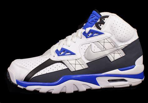 bo jackson basketball shoes nike air trainer sc high white metallic platinum