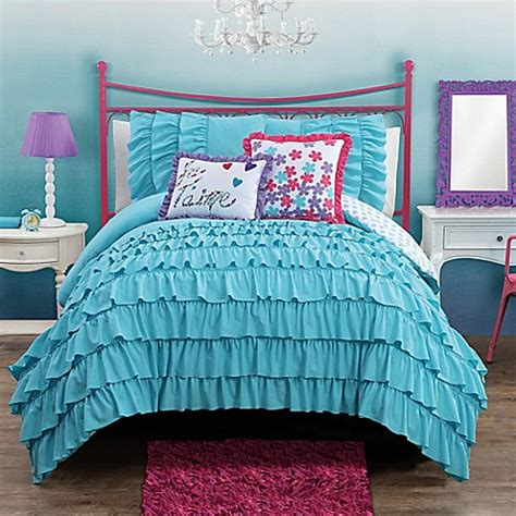 aqua comforter full buy amanda reversible 3 piece full comforter set in aqua