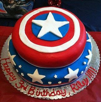 1000 ideas about captain america birthday cake on