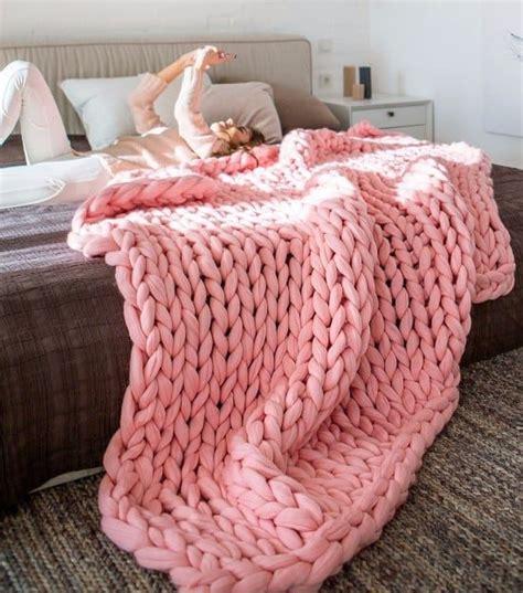 chunky yarn knit blanket pattern chunky knit blanket pattern yarn tutorial diy