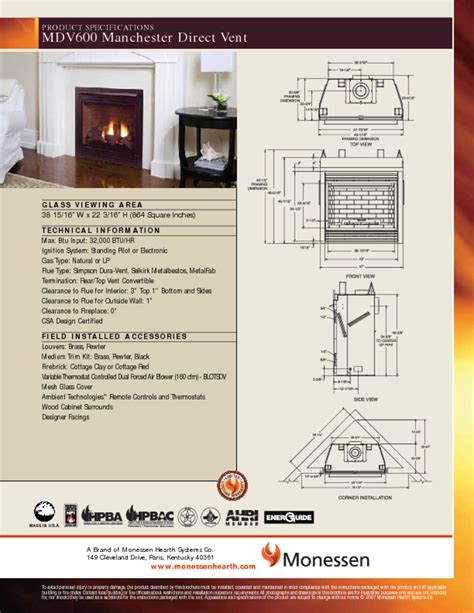 indoor fireplace users guides quot indoor fireplace quot page 165
