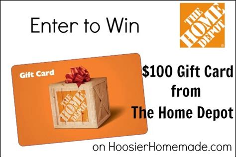 100 home depot gift card giveaway hoosier