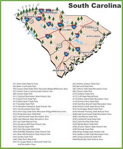 Sc State Parks Map by South Carolina State Parks Map