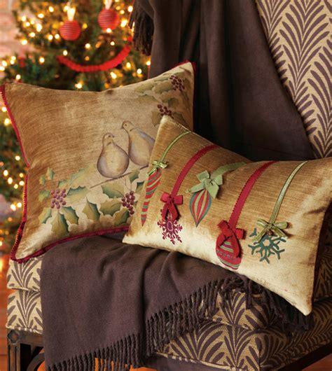 stylish christmas pillows   festive atmosphere