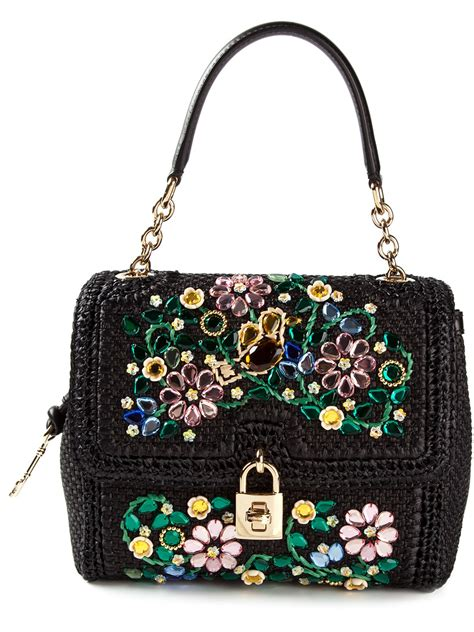 Dolce And Gabbana Clamshell Shoulder Bag by Dolce Gabbana Medium Dolce Embellished Shoulder Bag In