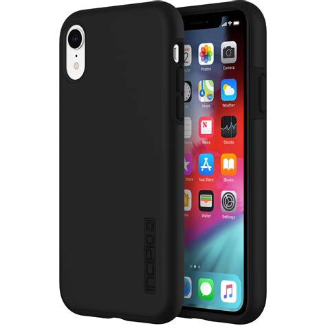 b iphone incipio dualpro for iphone xr black iph 1748 blk b h