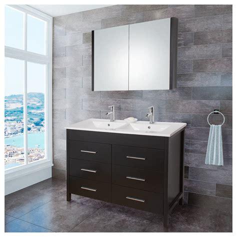 Vigo VG09042002K 48 inch Maxine Double Bathroom Vanity