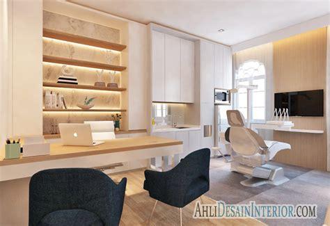 jasa desain interior klinik gigi minimalis modern jasa