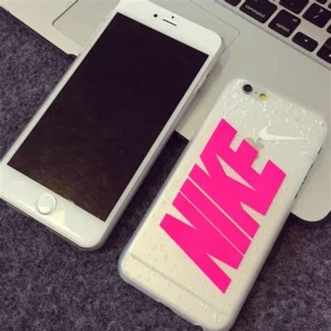 nike accessories pink hard case  iphone  poshmark