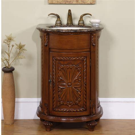 small single sink vanity  granite  antiqued finish uvsr