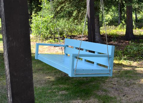 how to build a swing bench ana white large modern porch swing or bench diy projects