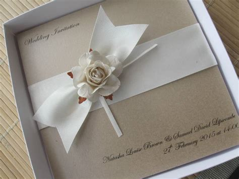 Handmade Wedding Stationary - handmade vintage wedding invitations mink ivory