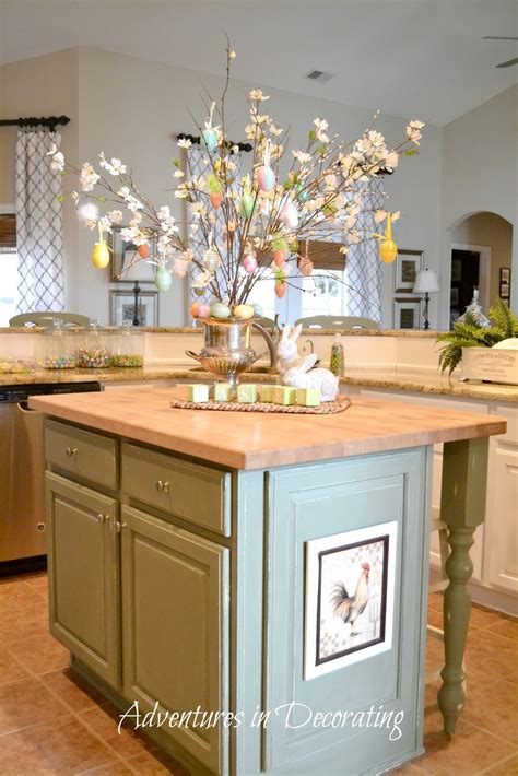 decorating a kitchen island adventures in decorating flowers are blooming in the kitchen