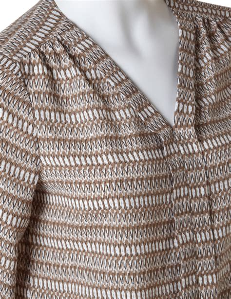 Black Tribal Brown brown tribal print blouse cleo