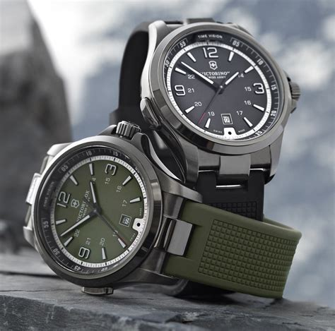 Swiss Army Rubber I Black Gray victorinox watches vision review