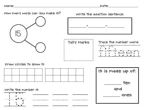 Decomposing Numbers Kindergarten Worksheets by Kindergarten Decomposing Number Bonds Worksheet