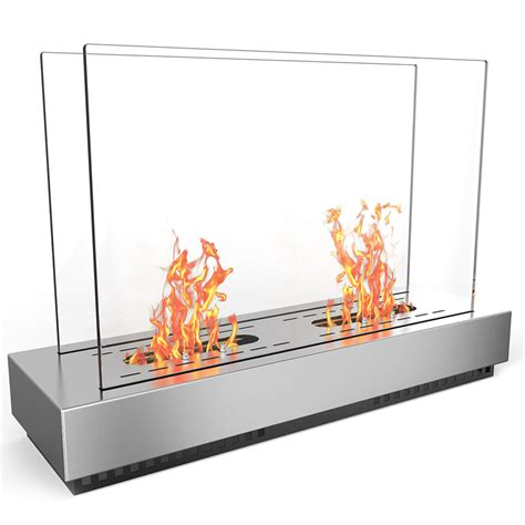 elite free standing ventless ethanol fireplace