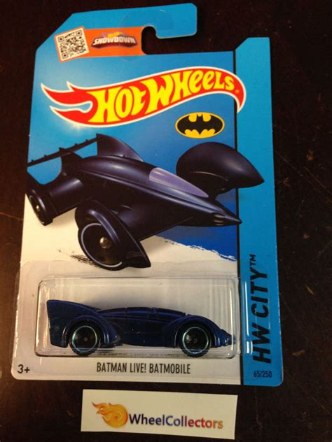 Wheels Batman Mobile Live Bnib batman live batmobile 65 blue 2015 wheels d43 ebay