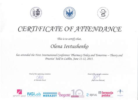 conference certificate of participation template conference certificate of participation template 28