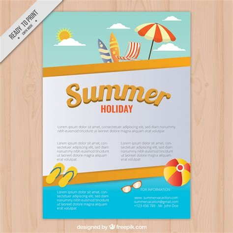 summer c brochure template summer brochure with elements vector free