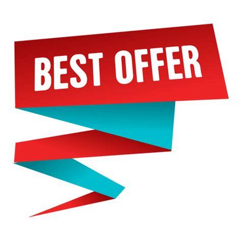 best offer best offer origami sale label transparent png svg vector