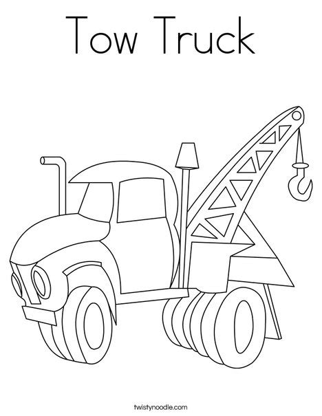 coloring page tow truck tow truck coloring page twisty noodle