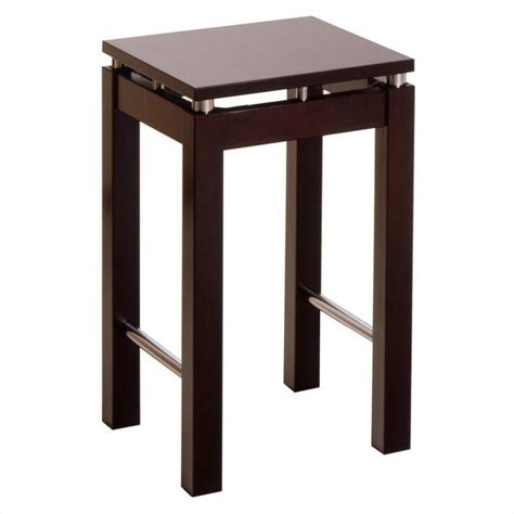 Cabinet Height Bar Stools by Winsome Linea 24 Quot Counter Height Espresso Bar Stool Ebay