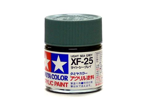 Tamiya Color Enamel Paint Xf 25 Light Sea Grey 10ml tamiya model color acrylic paint xf 25 light sea grey net 23ml 81325 models kits rcecho