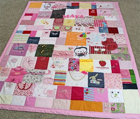 Patchwork Quilt Made From Baby Clothes - a quilt made from baby clothing year quilt