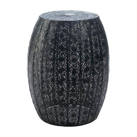 Black Metal Garden Stool by Garden Stool Metal Black Moroccan Lace Decorative