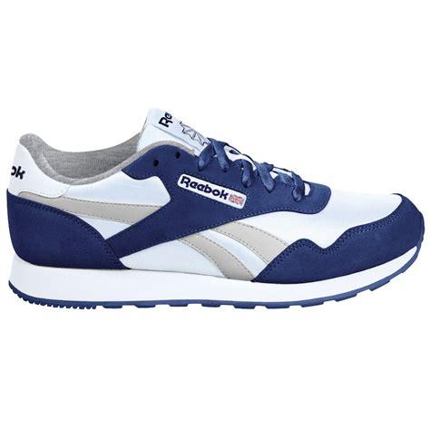 royal blue athletic shoes reebok s royal white blue athletic shoe shoes