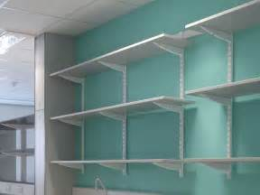 wall mounted shelving laundry room home inspiration desk every thing is a shelf