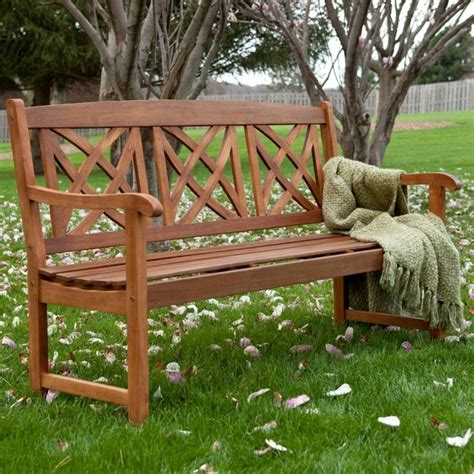 wood benches for outside magnolia 5 ft wood garden bench contemporary outdoor