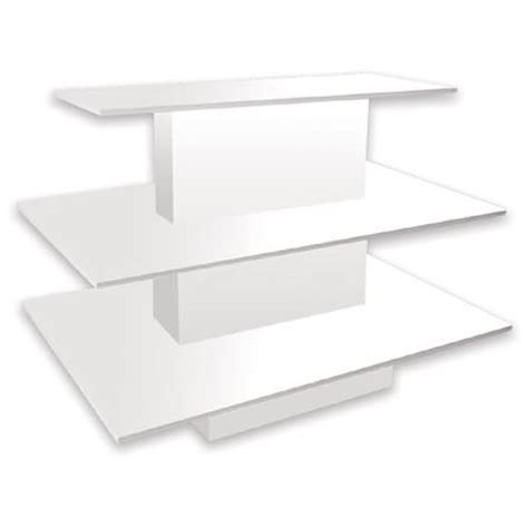 white display white 3 tiered display table display multi level
