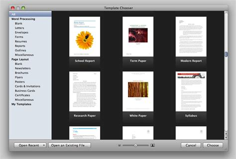 apple pages booklet template ars reviews iwork 09 fourth time s a charm ars technica