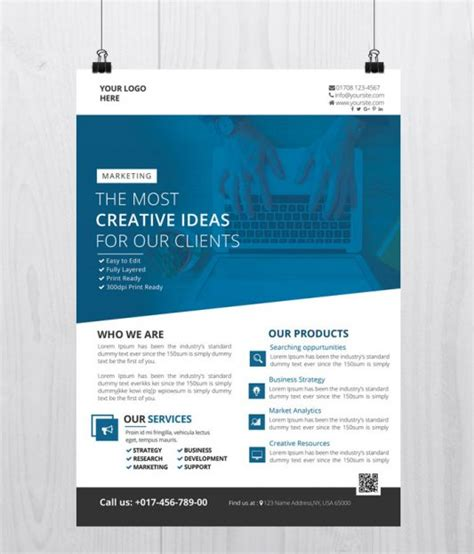30 Best Free Business Flyer And Brochure Templates In Psd Business Flyer Templates Free Printable