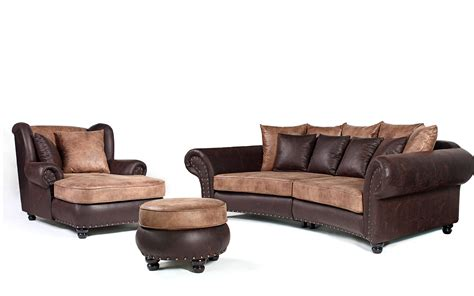 big black couch big sofa quot hawanastil quot inkl big sessel und hocker nagelung