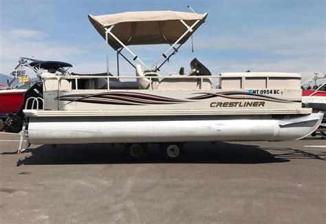 crestliner pontoon boat models 2007 used crestliner 2085 sport pontoon boat for sale