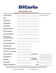 vendor form template vendor setup form template excel go search for