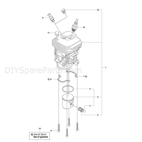 Husqvarna 445e Chainsaw 2011 Parts Diagram Cylinder