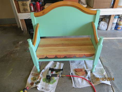 bench made from a bed bench made from old bed frame hometalk
