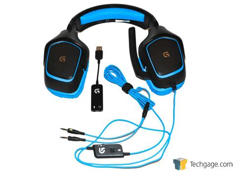 Headphone Headset Logitech G430 Digital Gaming Headset techgage image logitech g430 gaming headset