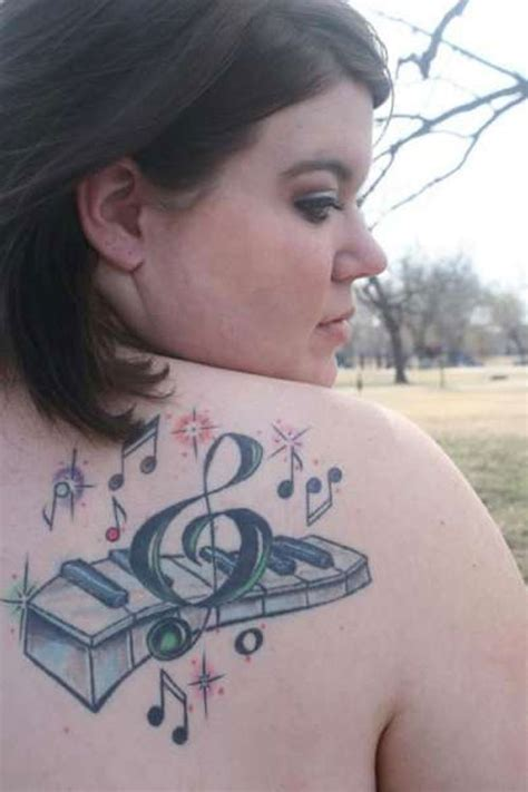 30 staggering treble clef tattoo designs creativefan