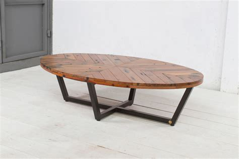 Oval Shaped Coffee Tables Duke Oval Coffee Table Contemporary Coffee Tables New York By Aellon