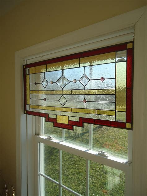 stained glass window panels styled stained glass window panel curtain valance