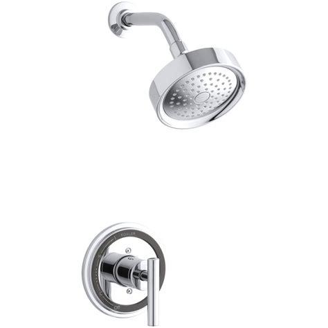 shop kohler taboret polished chrome 1 handle shower faucet