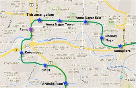 printable chennai road map chennai metro conducts trial run between thirumangalam