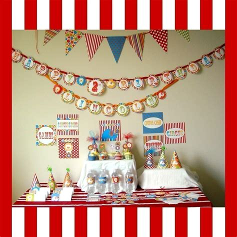 printable circus party decorations circus printable party package dimple prints shop