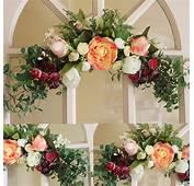 Wreaths Rose Artificial Flower Garland Wall Mounted
