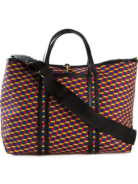 Geometric Pattern Tote Bag | pierre hardy geometric pattern tote bag in multicolor